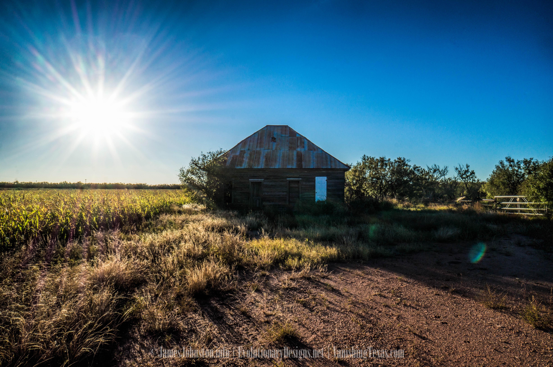 Abandoned Farm Hand Farm House In West Texas James Johnston